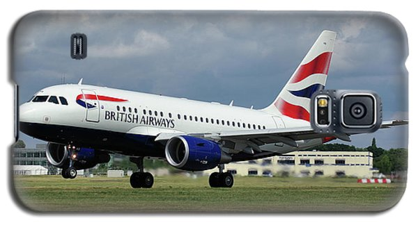 Galaxy S5 Case featuring the photograph British Airways A318-112 G-eunb by Tim Beach