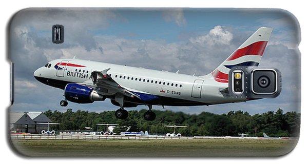 Galaxy S5 Case featuring the photograph British Airways Airbus A318-112 G-eunb by Tim Beach