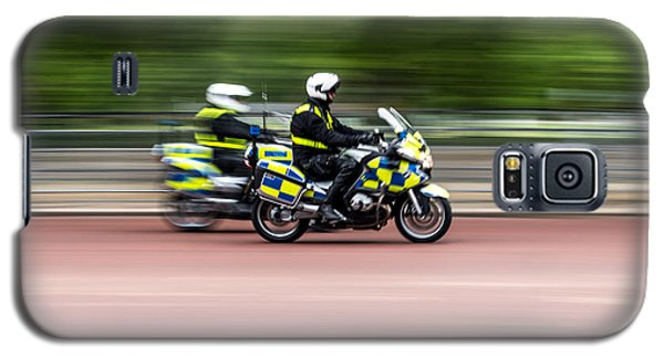 British Police Motorcycle Galaxy S5 Case