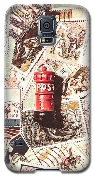 Galaxy S5 Case featuring the photograph British Post Box by Jorgo Photography - Wall Art Gallery
