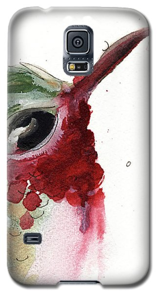 Galaxy S5 Case featuring the painting Broadtail Hummingbird by Dawn Derman