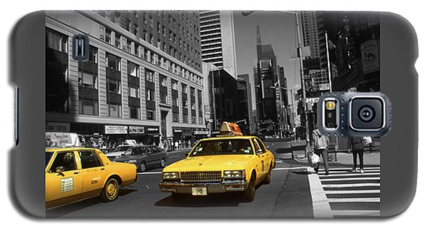 New York Broadway - Yellow Taxi Cabs Galaxy S5 Case