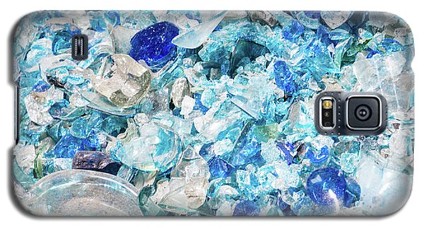 Broken Glass Blue Galaxy S5 Case