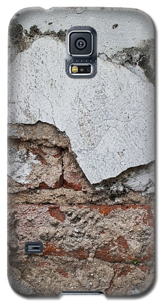Broken White Stucco Wall With Weathered Brick Texture Galaxy S5 Case