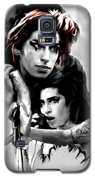 Broken Wings  Amy Winehouse Galaxy S5 Case by Iconic Images Art Gallery David Pucciarelli