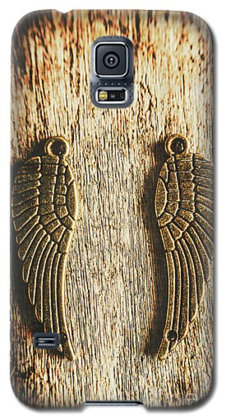 Bronze Angel Wings Galaxy S5 Case by Jorgo Photography - Wall Art Gallery