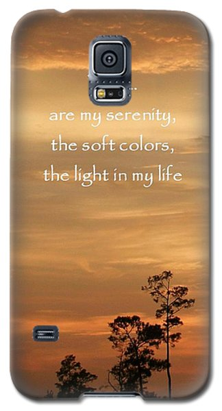 Galaxy S5 Case featuring the photograph Bronzed Sunset Quote by Ellen O'Reilly