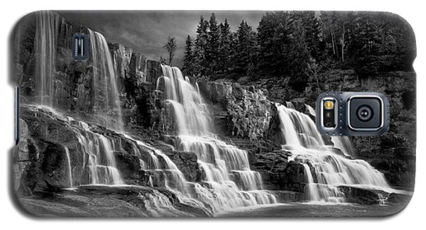 Galaxy S5 Case featuring the photograph Brooding Gooseberry Falls by Rikk Flohr