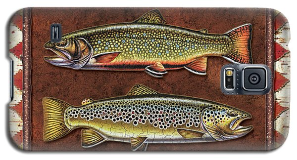 Brook And Brown Trout Lodge Galaxy S5 Case by JQ Licensing