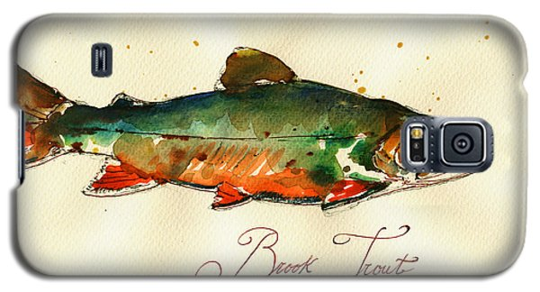 Trout Galaxy S5 Case - Brook Trout Art by Juan  Bosco