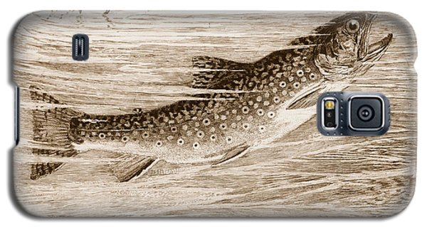 Galaxy S5 Case featuring the photograph Brook Trout Going After A Fly by John Stephens
