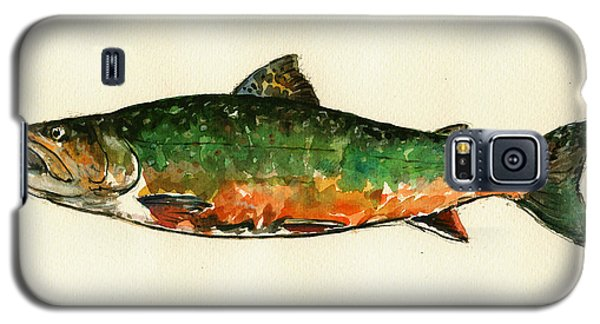 Trout Galaxy S5 Case - Brook Trout by Juan  Bosco