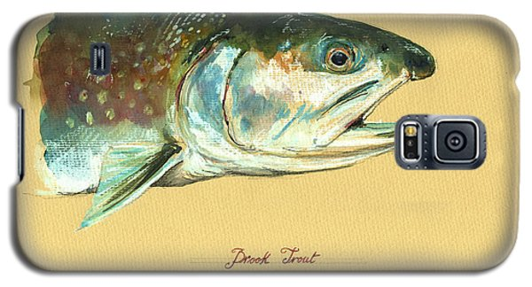 Trout Galaxy S5 Case - Brook Trout Watercolor by Juan  Bosco