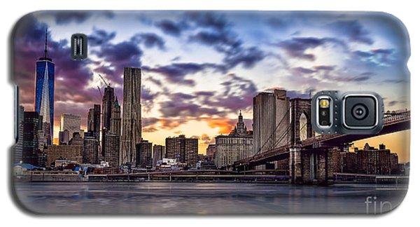 Brooklyn Bridge Manhattan Sunset Galaxy S5 Case