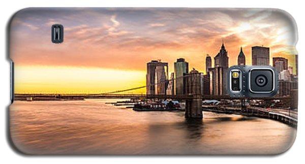 Brooklyn Bridge Panorama Galaxy S5 Case by Mihai Andritoiu