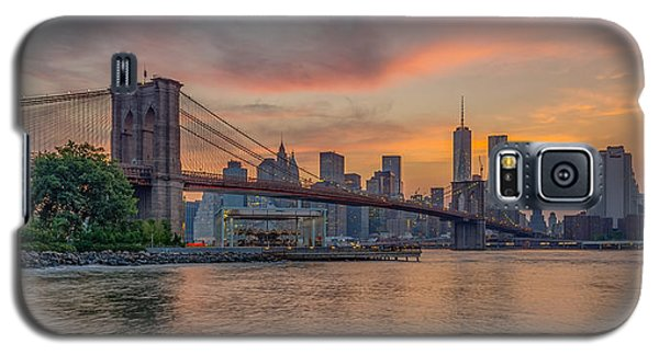 Brooklyn Bridge Summer Sunset Galaxy S5 Case by Scott McGuire