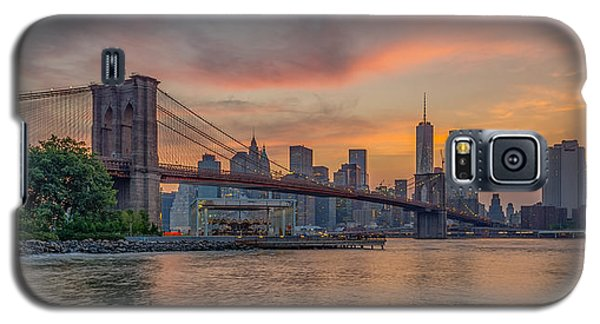 Brooklyn Bridge Summer Sunset Galaxy S5 Case