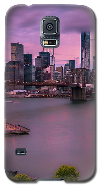 Brooklyn Bridge World Trade Center In New York City Galaxy S5 Case