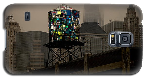 Galaxy S5 Case featuring the photograph Brooklyn Water Tower by Chris Lord
