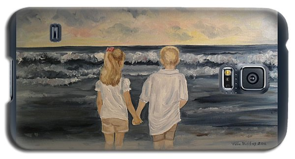 Galaxy S5 Case featuring the painting Brother And Sister by Julie Brugh Riffey