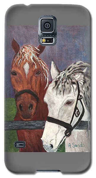 Brown And White Horses Galaxy S5 Case