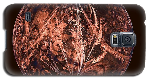 Brown Artificial Planet Galaxy S5 Case