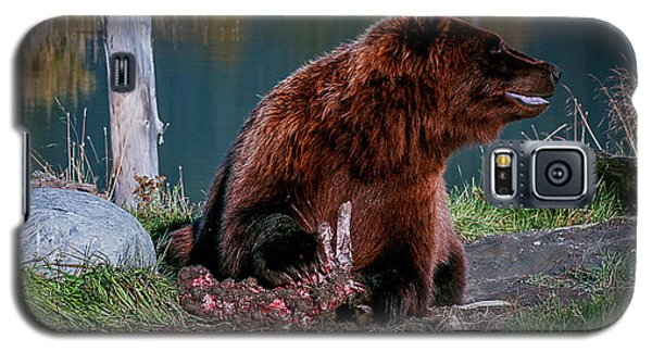 Brown Bear And Magpie Galaxy S5 Case