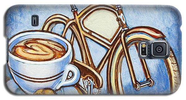 Brown Electra Delivery Bicycle Coffee And Amaretti Galaxy S5 Case