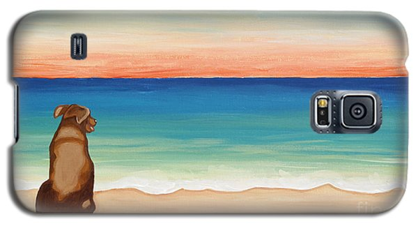 Brown Lab Dog On The Beach Galaxy S5 Case
