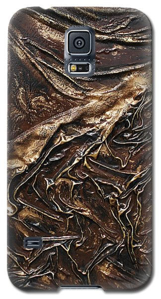 Brown Lace Galaxy S5 Case by Angela Stout
