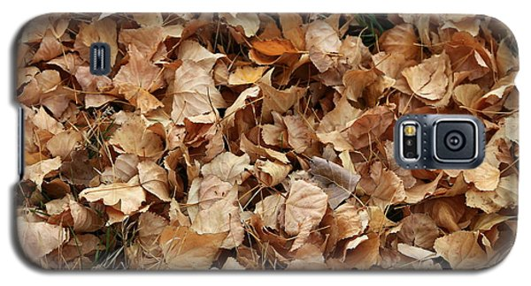 Brown Leaf Carpet Galaxy S5 Case