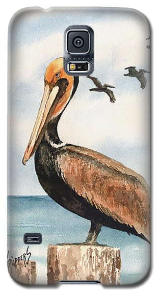 Brown Pelicans Galaxy S5 Case