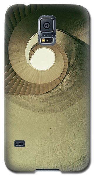 Galaxy S5 Case featuring the photograph Brown Spiral Stairs by Jaroslaw Blaminsky