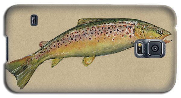 Brown Trout Jumping Galaxy S5 Case by Juan Bosco