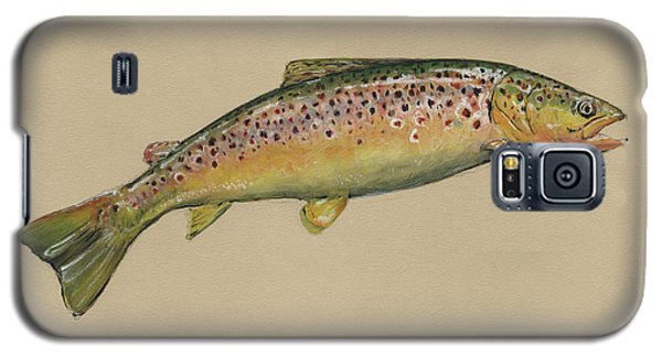 Trout Galaxy S5 Case - Brown Trout Jumping by Juan Bosco
