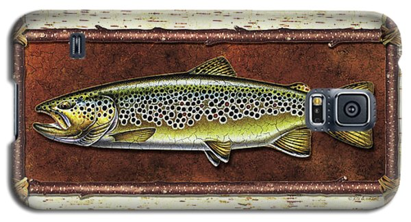 Trout Galaxy S5 Case - Brown Trout Lodge by JQ Licensing