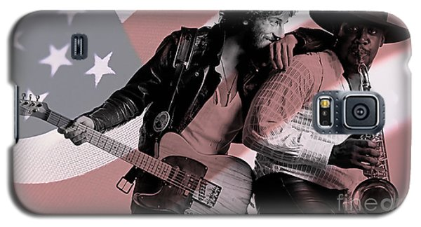 Bruce Springsteen Clarence Clemons Galaxy S5 Case by Marvin Blaine