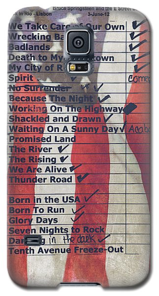Bruce Springsteen Setlist At Rock In Rio Lisboa 2012 Galaxy S5 Case