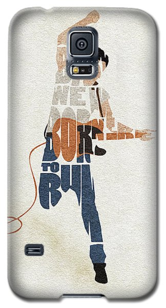 Bruce Springsteen Typography Art Galaxy S5 Case