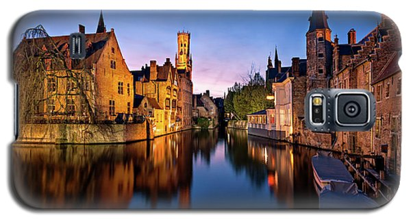 Bruges Canals At Blue Hour Galaxy S5 Case