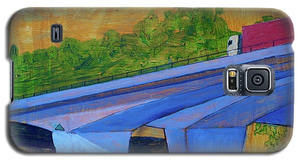 Galaxy S5 Case featuring the painting Brunswick River Bridge by Paul McKey
