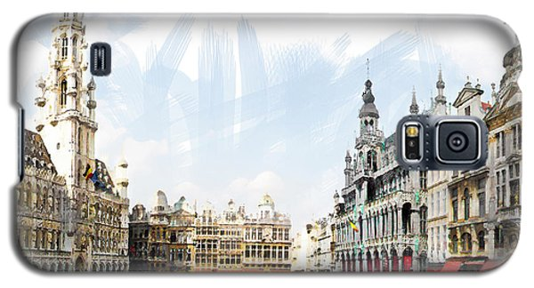 Galaxy S5 Case featuring the photograph Brussels Grote Markt  by Tom Cameron