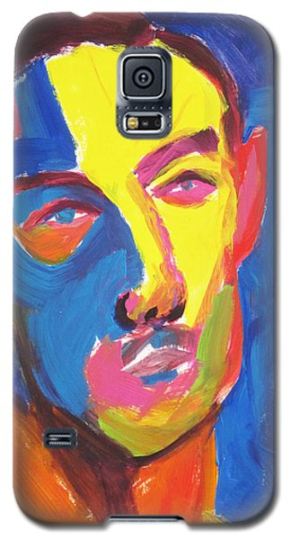 Galaxy S5 Case featuring the painting Bryan Portrait by Shungaboy X