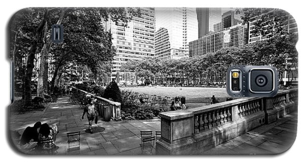 Galaxy S5 Case featuring the photograph Bryant Park Angles by John Rizzuto
