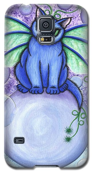 Galaxy S5 Case featuring the painting Bubble Fairy Cat by Carrie Hawks