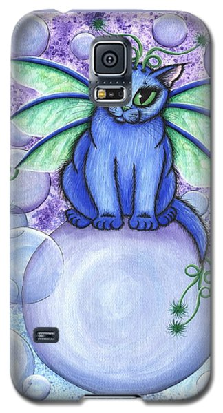 Bubble Fairy Cat Galaxy S5 Case by Carrie Hawks