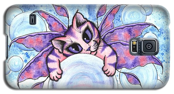 Galaxy S5 Case featuring the painting Bubble Fairy Kitten by Carrie Hawks