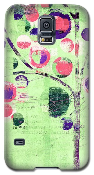 Galaxy S5 Case featuring the digital art Bubble Tree - 224c33j5l by Variance Collections