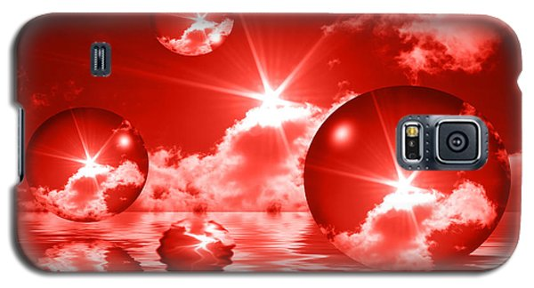 Galaxy S5 Case featuring the photograph Bubbles In The Sun - Red by Shane Bechler