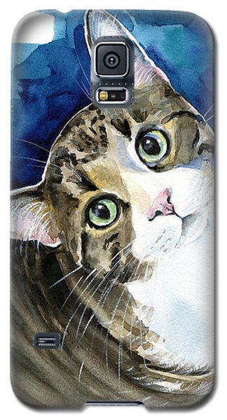 Bubbles - Tabby Cat Painting Galaxy S5 Case
